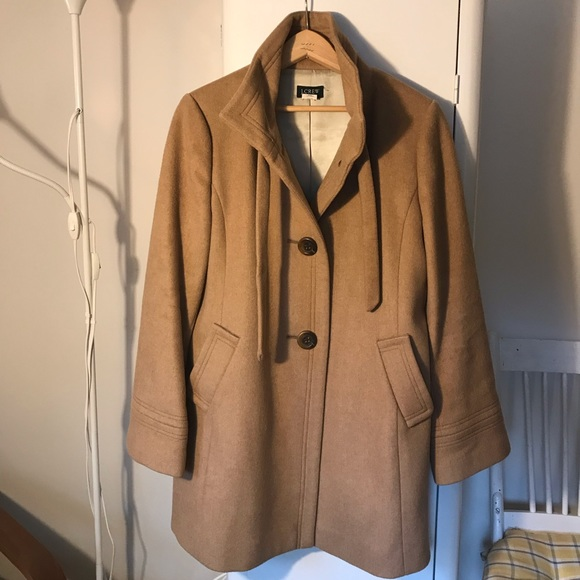 J. Crew Jackets & Blazers - J.Crew Camel Wool Cashmere Coat - Size 10